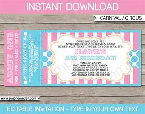 carnival ticket invitations template carnival circus With carnival tickets template free printable