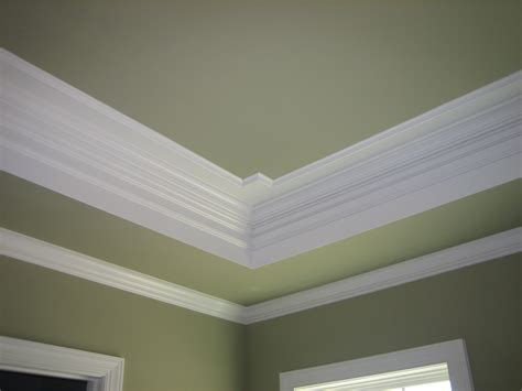 recessed ceiling crown molding crown tray ceilings with crown molding crown molding painted