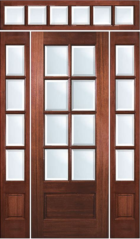 true divided lite  lite mahogany entry door