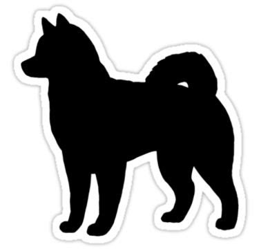 husky silhouettes clipart image