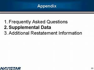 AppendixFrequently Asked QuestionsSupplemental ...