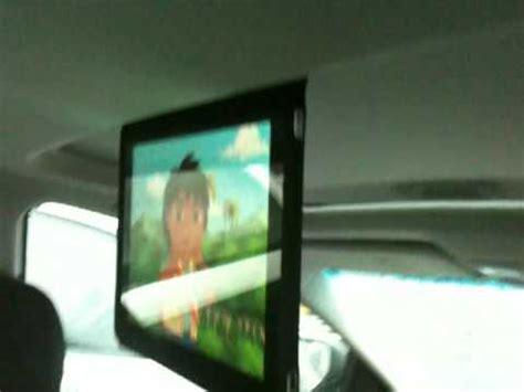 diy ipad  car mount  sunroof  bluetooth audio youtube