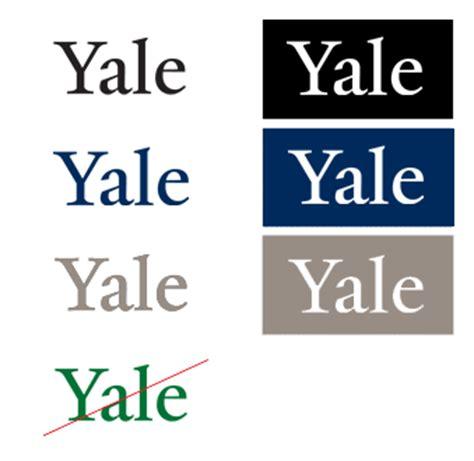 yale colors yale logo wordmarks yale identity