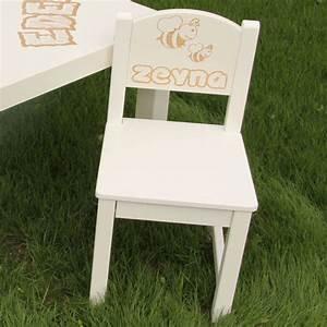 Chaise Enfant Personnalisé : chaise d 39 enfant personnalis e en bois abeille ~ Teatrodelosmanantiales.com Idées de Décoration