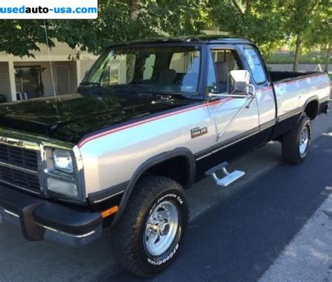 For Sale 1992 passenger car Dodge Ram 2500 Truck 250 LE