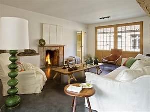 un salon cosy elle decoration With deco salon bois naturel