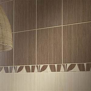 carrelage salle de bain mural bonsai en faience beige With carrelage mural exterieur leroy merlin