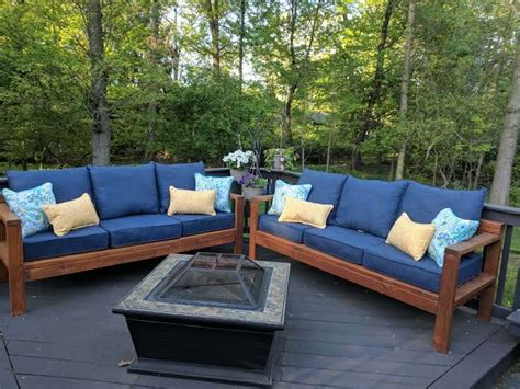 ana white  outdoor couches diy projects