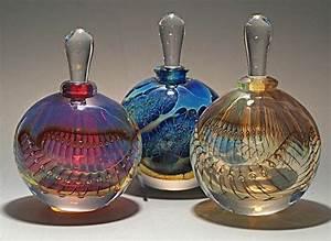 Silver Perfume Bottles by Robert Burch (Art Glass Perfume