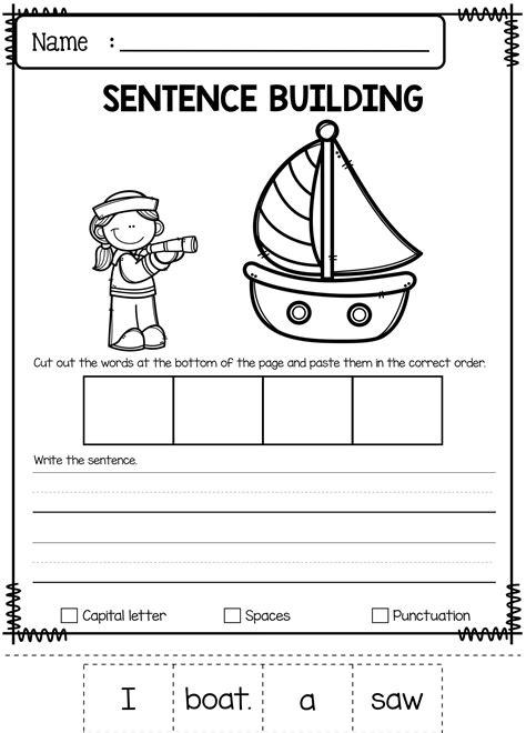 june sentence building   pages  sentence building
