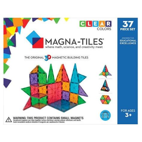 magna tiles clearance magna tiles 174 clear colors 37 set target