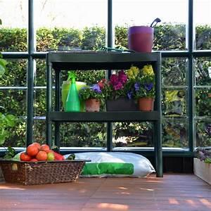 Etagere Pour Serre : double tag re pour serre de jardin rion ~ Premium-room.com Idées de Décoration