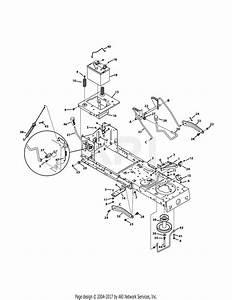 Troy Bilt 13wn77ks011 Pony  2011  Parts Diagram For Frame