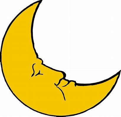 Moon Crescent Clipart Smiling Clip Vector Quarter