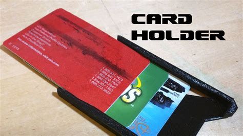 Maybe you would like to learn more about one of these? Credit Card Holder - 3D Printed - HD - YouTube