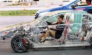 Transparent car made of see-through acrylic showcases the ...