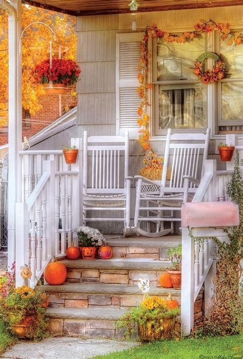 fall porch decorating ideas 85 pretty autumn porch d 233 cor ideas digsdigs