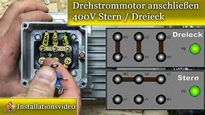 Elektromotor Anschlie U00dfen    Drehstrommotor Anschlie U00dfen 400v