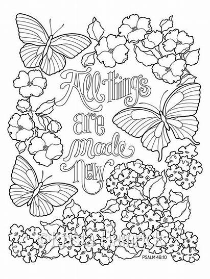 Coloring Pages Things Butterfly Bible Inspirational Garden