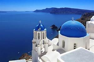 Santorini Traditional Church In Oia Greece Custom