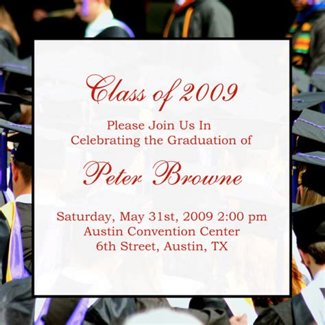 Examples Of Graduation Announcements For College