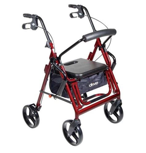 duet rollator transport chair combo with 8 inch casters by drive