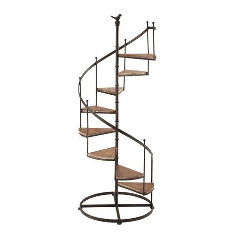 201 tag 232 re escalier en m 233 tal et bois effet rouille l 53 cm castellane maisons du monde