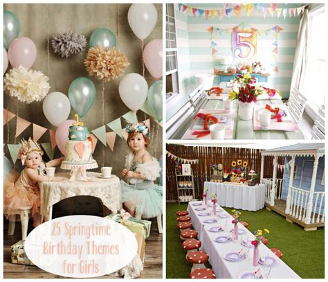 1st birthday ideas for baby girl party themes inspiration lovables lovely springtime birthday party themes