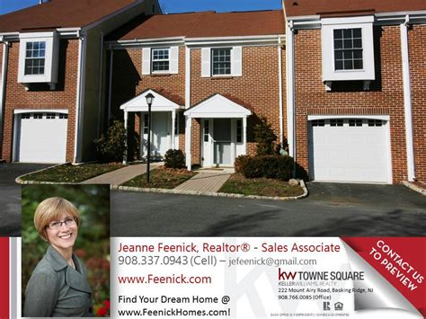 madison nj townhome call jeanne