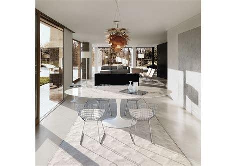 tavoli knoll saarinen tavolo ovale in marmo knoll milia shop