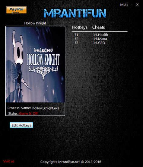 Hollow Knight Trainer 3 V1210 Mrantifun Download Pc