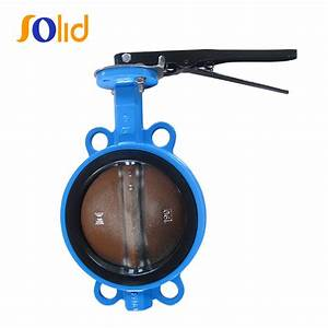 China Double Flanged Wafer And Lug Type Butterfly Valve