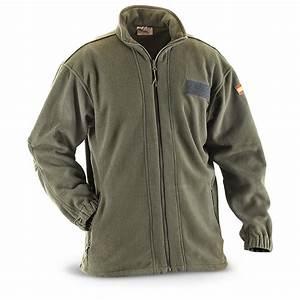 New Spanish Military Fleece Jacket Olive Drab - 213264 Uninsulated Jackets u0026 Coats at ...