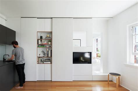 Apartment With A Retractable Interior Wall by Retractable Walls For Living