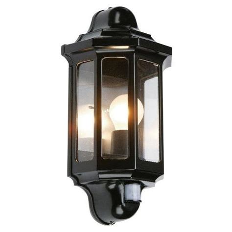 pir black garden wall light 1818 the lighting superstore