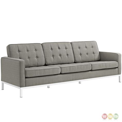 Tufted Sofa And Loveseat Set by Loft Modern 2pc Upholstered Button Tufted Sofa Loveseat