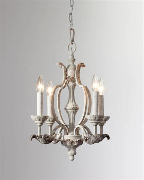 florence white mini chandelier