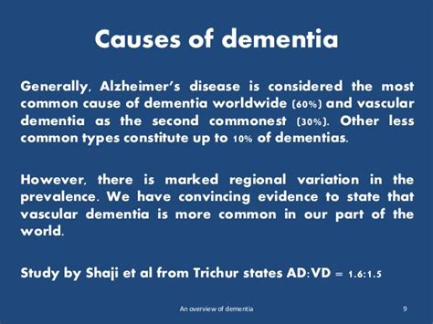 An Overview Of Dementia