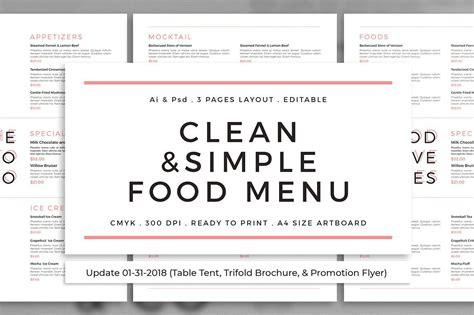clean simple food menu update  images menu