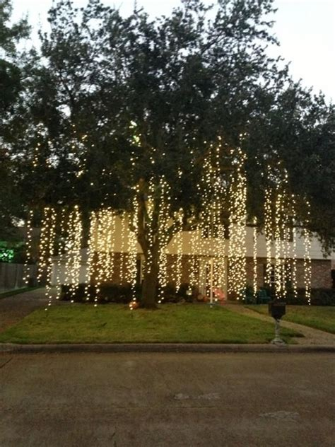 hanging christmas tree lights raining lights how amazing would this look hanging from