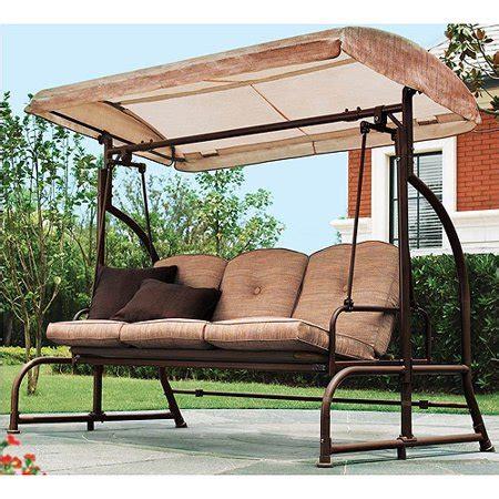 patio swing walmart mainstays sand dune 3 seater swing walmart