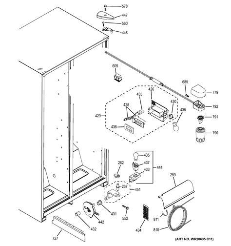 ge refrigerator ice maker parts diagram wiring diagram list