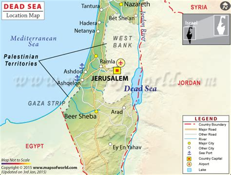 dead sea travel information map location facts