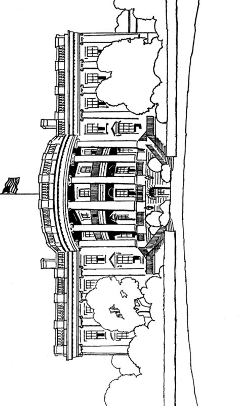 white house coloring page coloring page book  kids