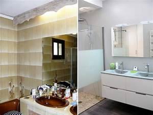 Salle De Bain Avant Après : avant apr s une salle de bains d mod e r nov e du sol au ~ Mglfilm.com Idées de Décoration