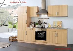 Küchenzeile 270 Cm Ohne Elektrogeräte : k chenzeile varel k chen leerblock breite 270 cm buche k che k chenzeilen ~ Bigdaddyawards.com Haus und Dekorationen
