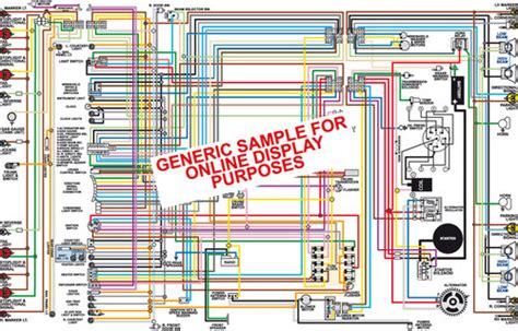 1967 Charger Wiring Diagram by 1967 Dodge Charger Color Wiring Diagram Classiccarwiring