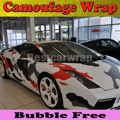 white arctic camo vinyl car wrap with air rlease gloss matt snow camouflage pixel car