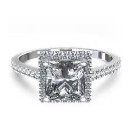 average price of an engagement ring stylish halo princess cut engagement ring in 14k white gold australia
