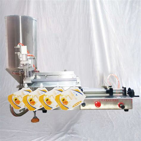 spout pouch filling machine pre  bags filler equipment semi automatic single head pneumatic